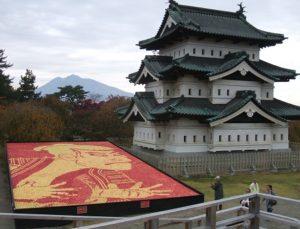 弘前城とりんごアート(第8回秋の吟行互選俳句大会)